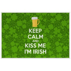 Kiss Me I'm Irish Placemat (Laminated) (Personalized)