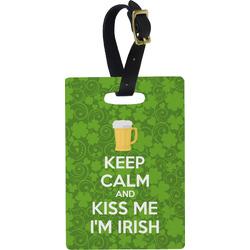 Kiss Me I'm Irish Rectangular Luggage Tag (Personalized)