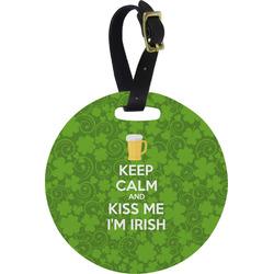 Kiss Me I'm Irish Round Luggage Tag (Personalized)