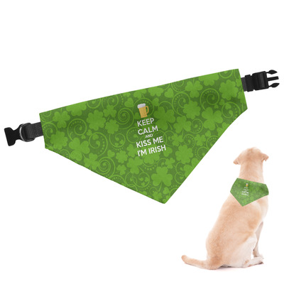 Kiss Me I'm Irish Dog Bandana (Personalized)