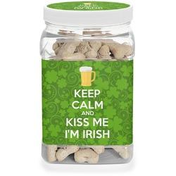 Kiss Me I'm Irish Pet Treat Jar (Personalized)