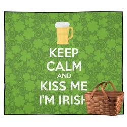 Kiss Me I'm Irish Outdoor Picnic Blanket (Personalized)