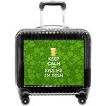 Kiss Me I'm Irish Pilot / Flight Suitcase (Personalized)
