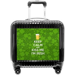 Kiss Me I'm Irish Pilot / Flight Suitcase (Personalized)