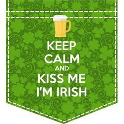 Kiss Me I'm Irish Iron On Faux Pocket (Personalized)