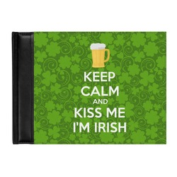Kiss Me I'm Irish Genuine Leather Guest Book (Personalized)