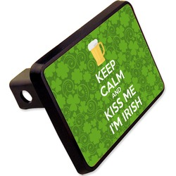 "Kiss Me I'm Irish Rectangular Trailer Hitch Cover - 2"" (Personalized)"