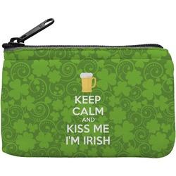 Kiss Me I'm Irish Rectangular Coin Purse (Personalized)
