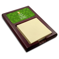 Kiss Me I'm Irish Red Mahogany Sticky Note Holder (Personalized)