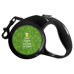 Kiss Me I'm Irish Retractable Dog Leash - Multiple Sizes (Personalized)