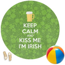 Kiss Me I'm Irish Round Beach Towel (Personalized)