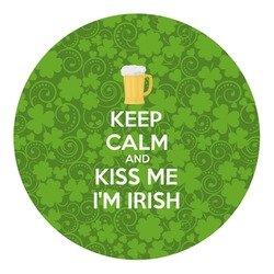 Kiss Me I'm Irish Round Decal - Custom Size (Personalized)