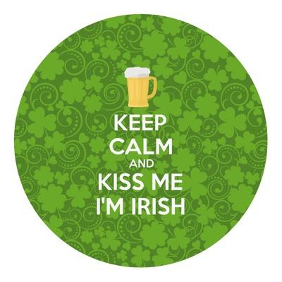 Kiss Me I'm Irish Round Decal (Personalized)