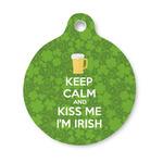 Kiss Me I'm Irish Round Pet Tag (Personalized)