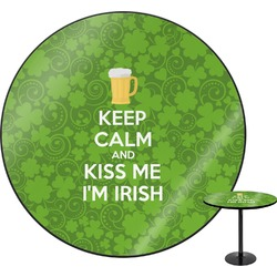 "Kiss Me I'm Irish Round Table - 30"" (Personalized)"