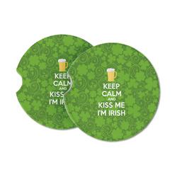 Kiss Me I'm Irish Sandstone Car Coasters (Personalized)