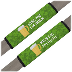 Kiss Me I'm Irish Seat Belt Covers (Set of 2) (Personalized)