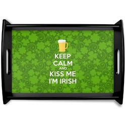Kiss Me I'm Irish Wooden Trays (Personalized)
