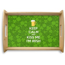Kiss Me I'm Irish Natural Wooden Tray (Personalized)