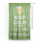 Kiss Me I'm Irish Sheer Curtains (Personalized)