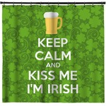 Kiss Me I'm Irish Shower Curtain (Personalized)