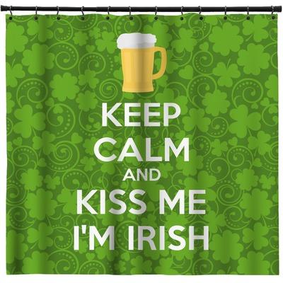 Kiss Me Im Irish Shower Curtain Personalized
