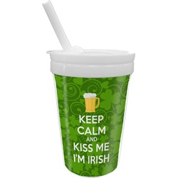 Kiss Me I'm Irish Sippy Cup with Straw (Personalized)