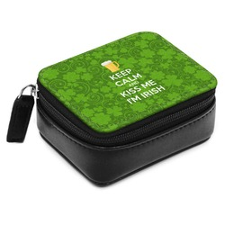 Kiss Me I'm Irish Small Leatherette Travel Pill Case (Personalized)