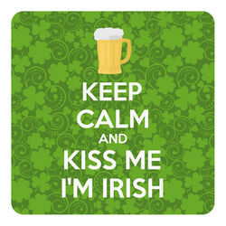 Kiss Me I'm Irish Square Decal (Personalized)