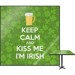 "Kiss Me I'm Irish Square Table Top - 24"" (Personalized)"