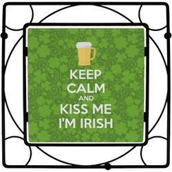 Kiss Me I'm Irish Square Trivet (Personalized)