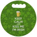 Kiss Me I'm Irish Stadium Cushion (Round) (Personalized)