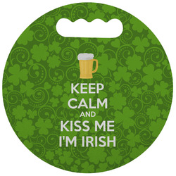 Kiss Me I'm Irish Stadium Cushion (Round) (Personalized)