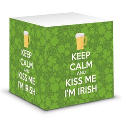 Kiss Me I'm Irish Sticky Note Cube (Personalized)