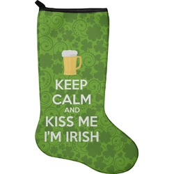 Kiss Me I'm Irish Christmas Stocking - Neoprene (Personalized)