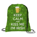 Kiss Me I'm Irish Drawstring Backpack (Personalized)