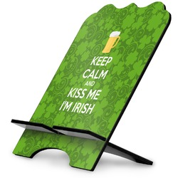 Kiss Me I'm Irish Stylized Tablet Stand (Personalized)