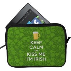Kiss Me I'm Irish Tablet Case / Sleeve (Personalized)
