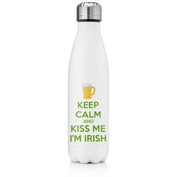 Kiss Me I'm Irish Tapered Water Bottle - 17 oz. - Stainless Steel (Personalized)