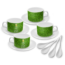Kiss Me I'm Irish Tea Cup - Set of 4 (Personalized)