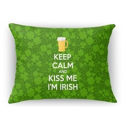 Kiss Me I'm Irish Rectangular Throw Pillow Case (Personalized)