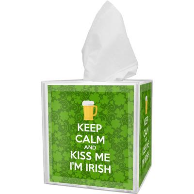 Kiss Me I'm Irish Tissue Box Cover (Personalized)