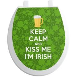 Kiss Me I'm Irish Toilet Seat Decal (Personalized)