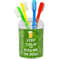 Kiss Me I'm Irish Toothbrush Holder (Personalized)