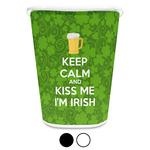 Kiss Me I'm Irish Waste Basket (Personalized)