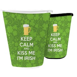 Kiss Me I'm Irish Waste Basket (Personalized)