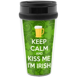 Kiss Me I'm Irish Travel Mugs (Personalized)