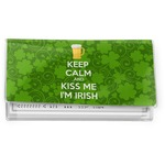 Kiss Me I'm Irish Vinyl Checkbook Cover (Personalized)