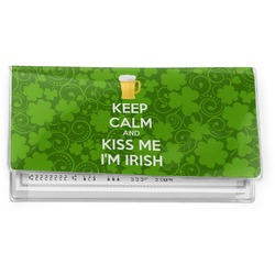Kiss Me I'm Irish Vinyl Check Book Cover (Personalized)