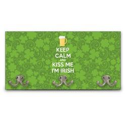 Kiss Me I'm Irish Wall Mounted Coat Rack (Personalized)